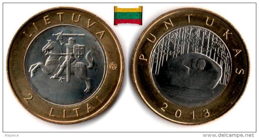 Lituanie - 2 Litai 2013 (Puntukas Stone) UNC - Lithuania