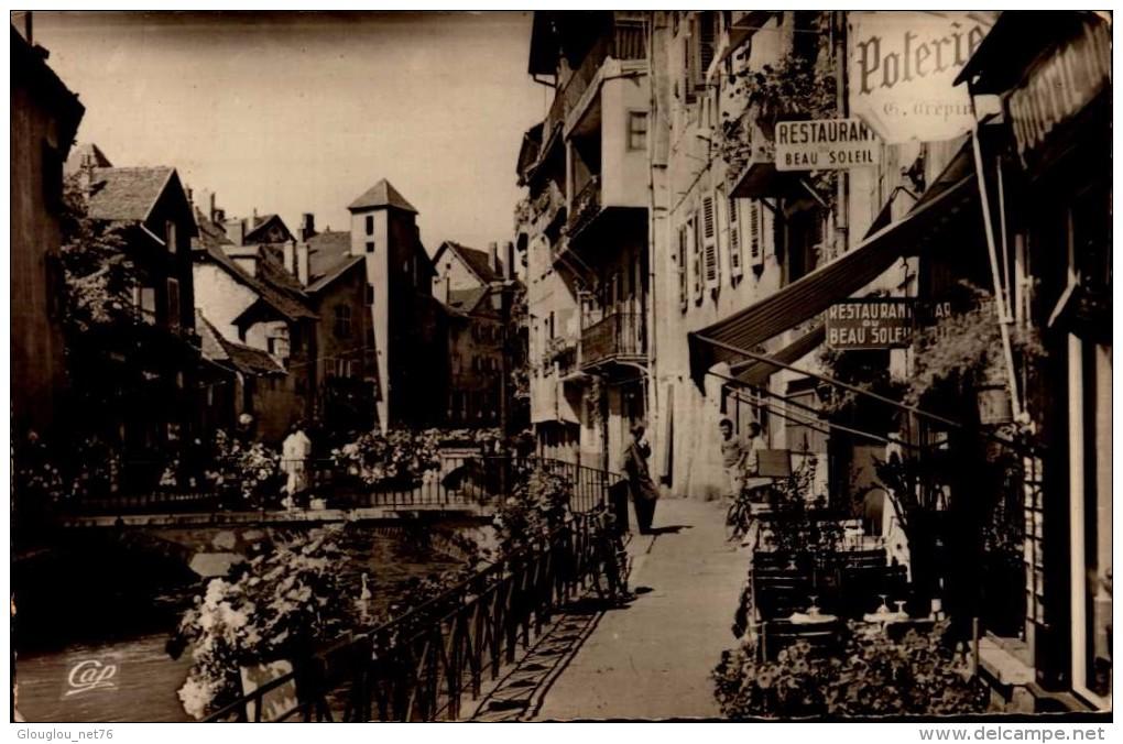 74-ANNECY..LES QUAIS DU THIOU...CPSM PETIT FORMAT - Annecy-le-Vieux