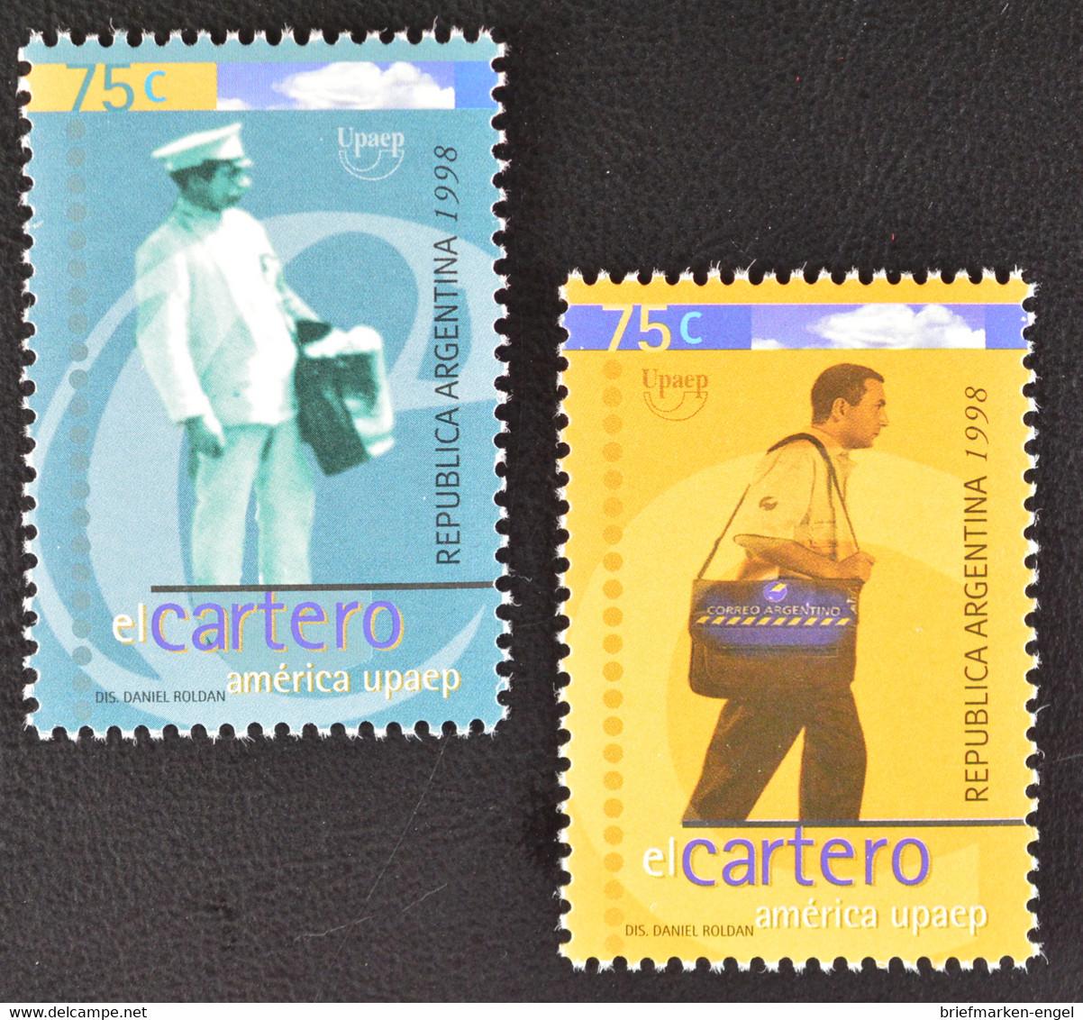 Argentinien Argentina 1998 Michel Nr. 2401-02 Amerika 1997 Der Postbote - Argentinien