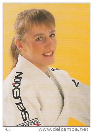 Herinneringskaart Judo:Inge Clement - Gevechtssport