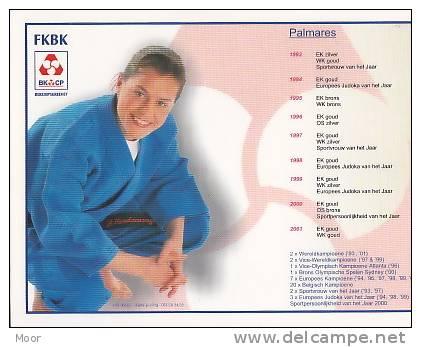 Herinneringskaart Judo:Gella Vandecaveye-Palmares 1993-2001 - Gevechtssport