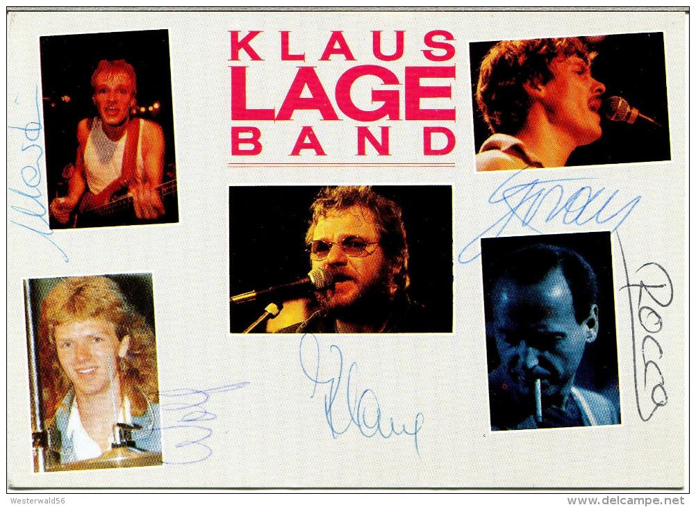(1570) Autogrammkarte Mit Original-Unterschriften Der KLAUS-LAGE-BAND, Ca 80er Jahre, Klaus Lage - Autogramme