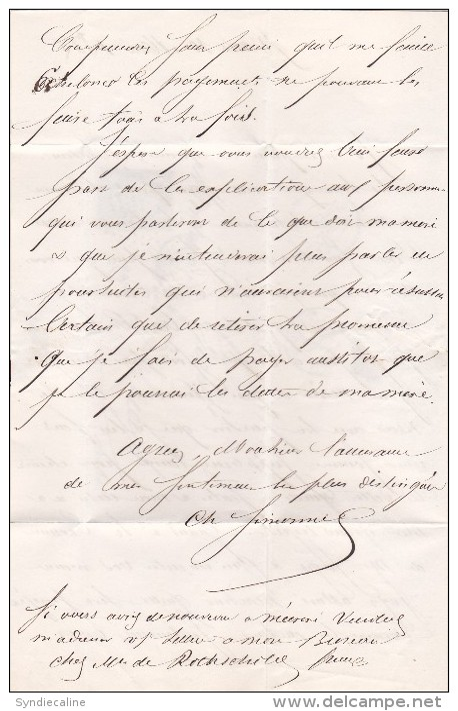 760 - LAC  NAPOLEON   14     10.5.1855  EOILE DE PARIS  à  RICEYES - Marcophilie (Lettres)