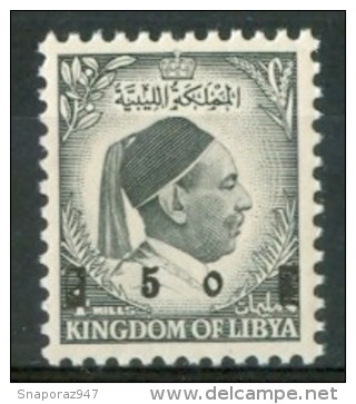 1955 Libia Ordinary King Idriss Overprinted Set MNH** - Libya