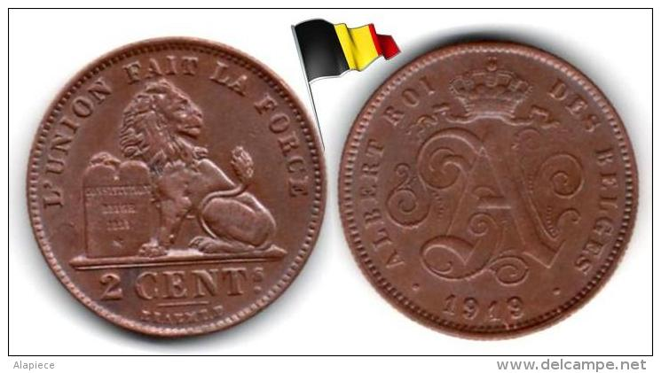 Belgique - 2 Centimes 1919 (High Grade) - 1865-1909: Leopold II
