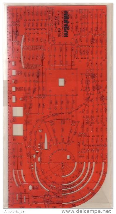 Marklin - NORMOGRAPHE - Masstab 1:10 K-GLEIS HO - 0210 - HO Scale
