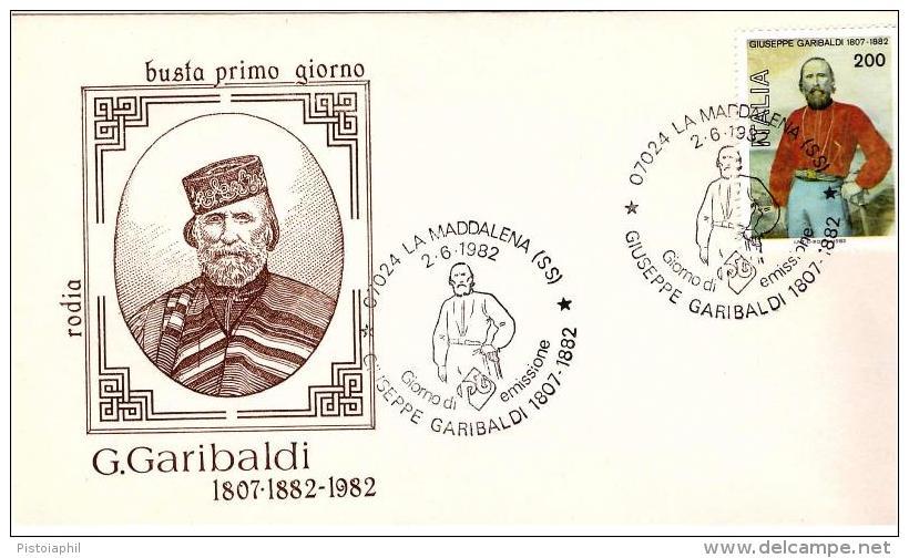 Fdc Rodia: GARIBALDI (1982);no Viaggiata; AS_Maddalena - F.D.C.