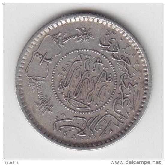 @Y@    Saoedi Arabie   1/4  Riyal 1935  / 1351   Zilver / Argent  (2898) - Arabie Saoudite