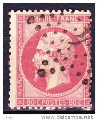 FRANCE NAPOLEON III 1862 YT N° 24 Obl. ETOILE GC 4 PARIS 4 - 1862 Napoléon III