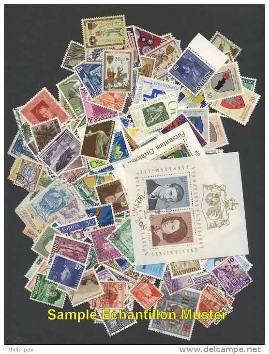 LIECHTENSTEIN, 200 DIFFERENT STAMPS COLLECTION! - Collections