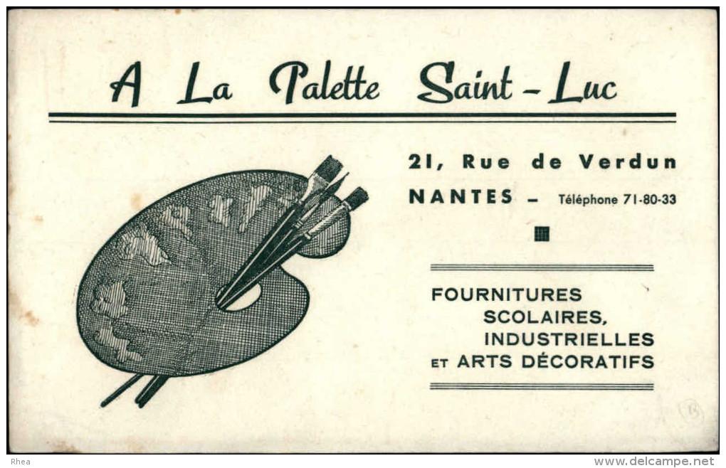 BUVARDS - PAPETERIE - A LA PALETTE SAINT-LUC à NANTES - Rue De Verdun - Buvards, Protège-cahiers Illustrés