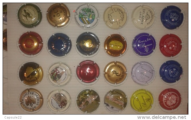 Lot De 108 Capsules Différentes De Champagnes, Mousseux, Cidres Et Sans Alcool ... Prix De Départ 0.10 La Capsule - Capsules & Plaques De Muselet