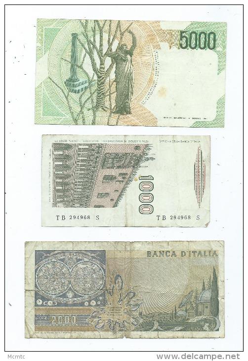 Lot De 9 Billets  Italie -  (4 Scans)- - Italie