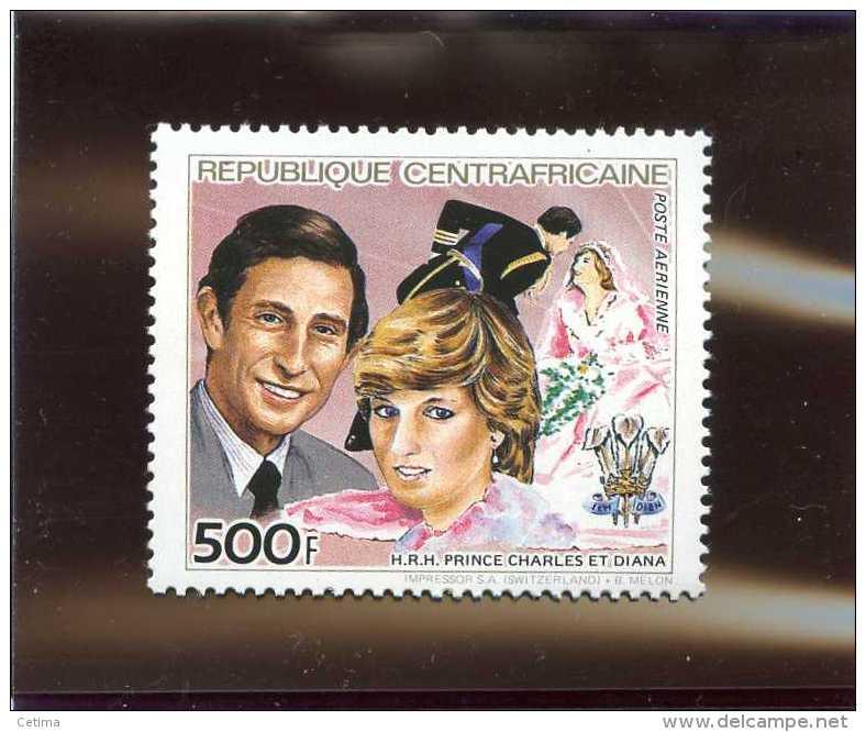 Centrafrique - Célébrités - Prince Charles Et Diana - Neuf - Central African Republic