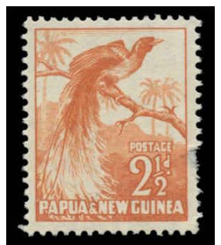 Papua New Guinea Scott # 125, 2½p Orange (1952) Bird Of Paradise, Mint Hinged - Papua New Guinea