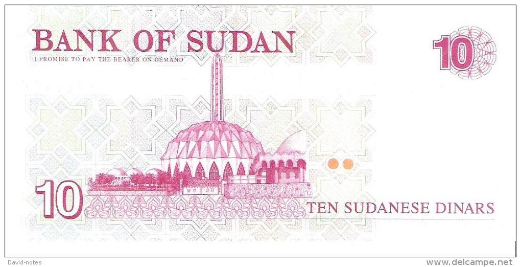 Sudan - Pick 52 - 10 Dinars 1993 - Unc - Soudan