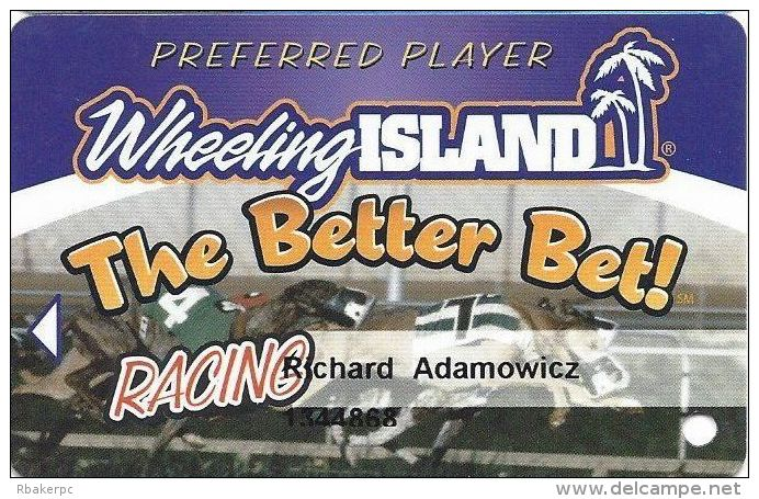 Wheeling Island Gaming Preferred Player Card - The Better Bet Racing - Casino Cards