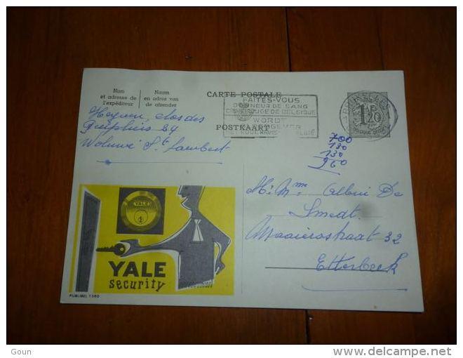 BC8-2-10 Publibel Obl. N° 1380  (  Yale Security Serrurerie ) Obl: Bruxelles - Enteros Postales