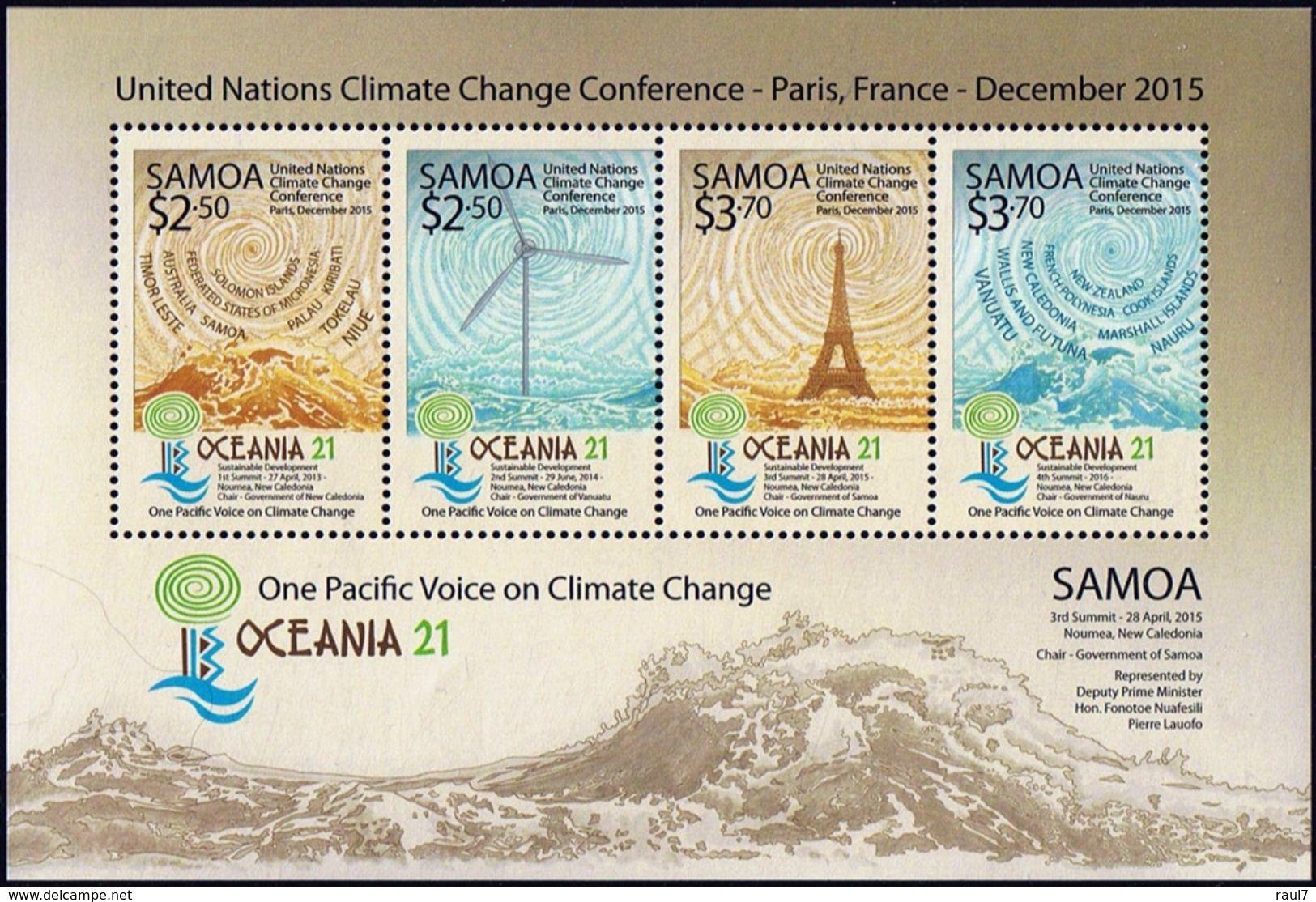 SAMOA 2015 - COB 21, Paris 2015, Environnement, Tour Eiffel - BF Neufs // Mnh - Samoa