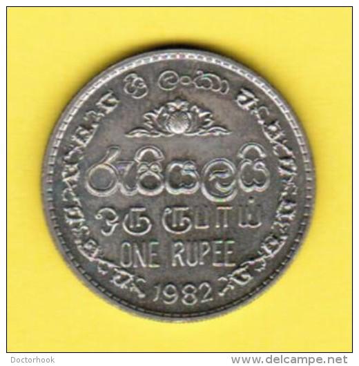 SRI LANKA   1 RUPEE 1982 (KM # 136.2) - Sri Lanka