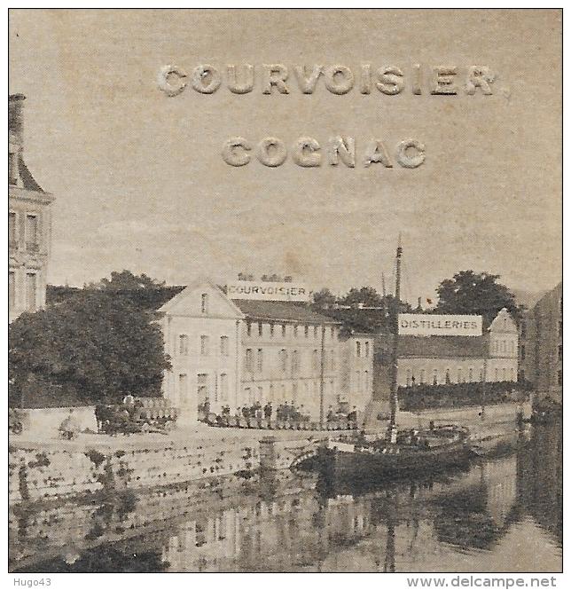 COGNAC - COURVOISIER COGNAC - LE CHATEAU - DISTILLERY - CARACTERES EN RELIEF - CPA NON VOYAGEE - Cognac