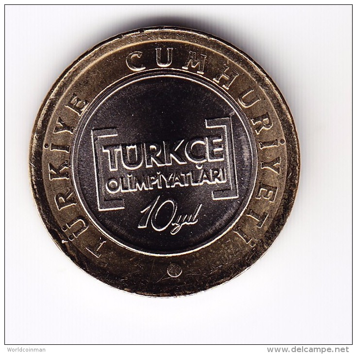 2012 Turkey Bimetallic Commemorative 1 Lira Coin - Turkey
