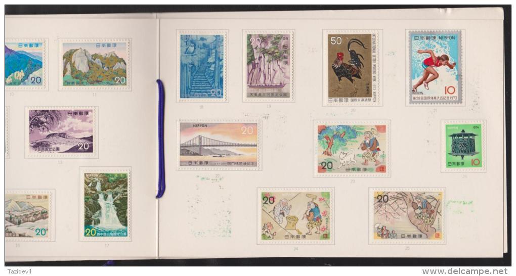JAPAN - 1973 Postage Stamps In Special Folder. Mint Hinged * - Japon