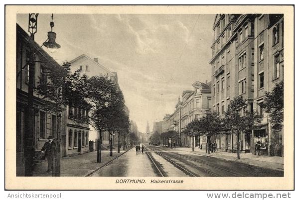 Cp Dortmund Im Ruhrgebiet, Blick In Die Kaiserstraße, Passanten - Deutschland