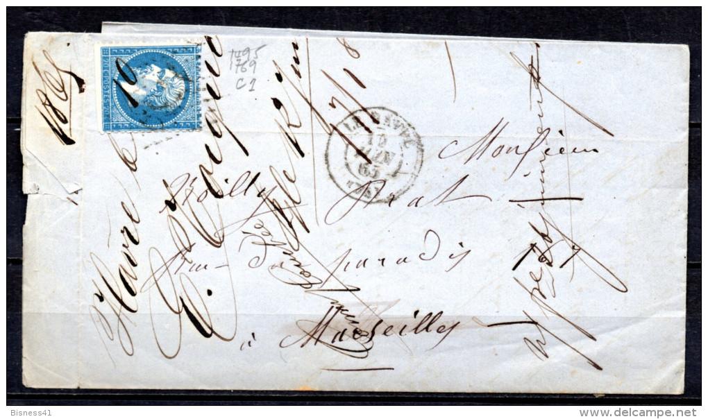 5/ France  : N° 22 SUR  LETTRE   , Cote : 5,00 € , Disperse Belle Collection ! - 1862 Napoleon III