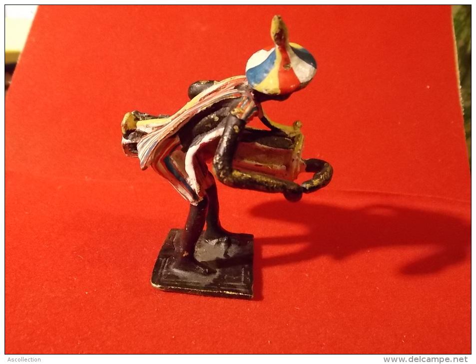 Art Africain Musicien Laiton Peint Main ? Mali ? Percussions Petite Statue, Figurine, Artisanale ? - Arte Africano