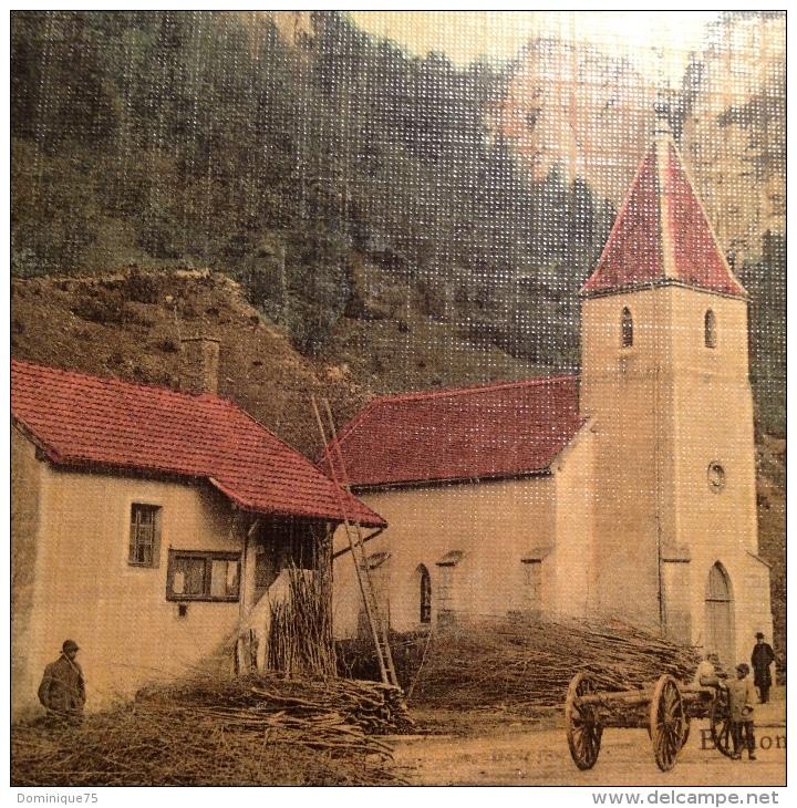 Très Belle Et Rare CPA 1908  Colorisée Avec Petite  Animationenvirons De Clairvaux-les-Lacs La Frasnée Timbre Semeuse 10 - Clairvaux Les Lacs