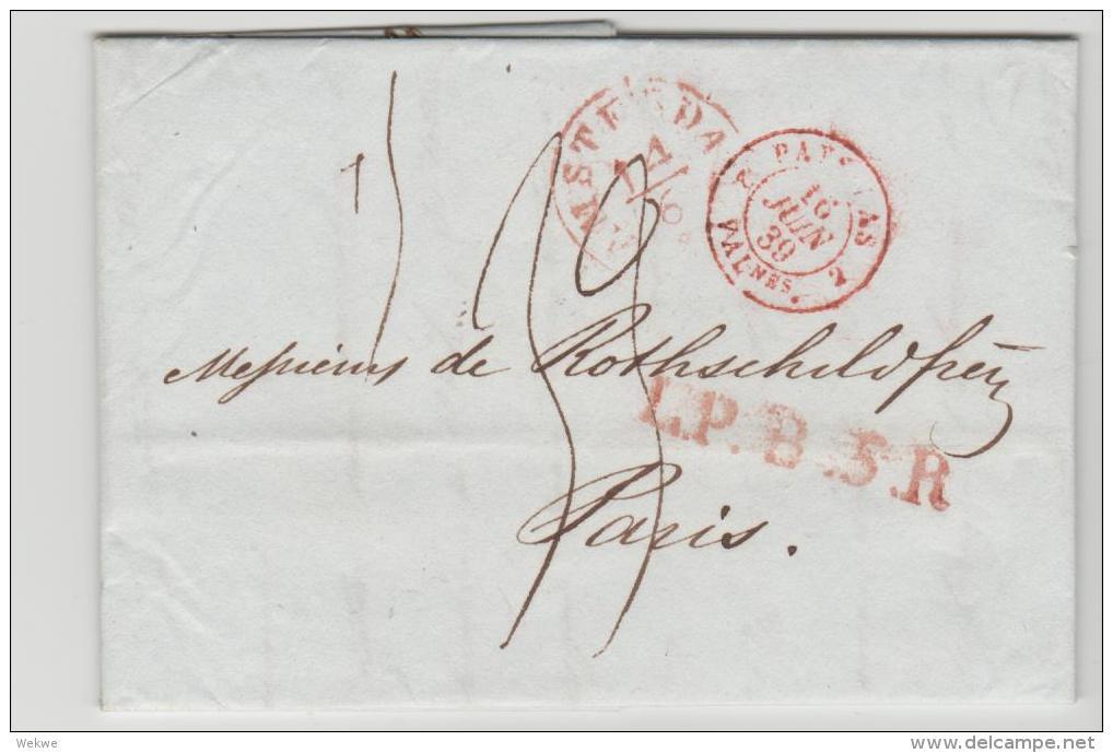 NLC035 / Amsterdam 1839 L.P.B. 5.R. Nach Paris - Niederlande