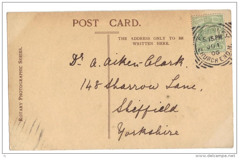 Mrs Seymour Hicks (Ellaline Terriss, Baby Betty & Mr Seymour Hicks - Real Photo - Rotary Photo -postmark 1906 - Entertainers