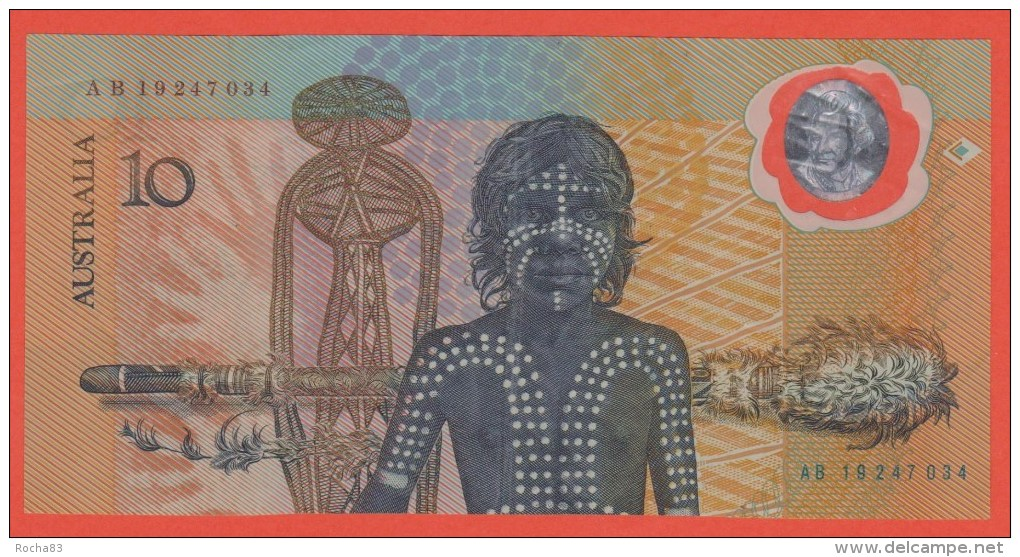 AUSTRALIE - 10 Dollars En Polymère  De 1988 - Pick 49b - 1988 (10$ Polymeerbiljetten)