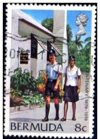 Bermuda Police Centenary, Bermuda Stamp SC#385-used - Bermudes
