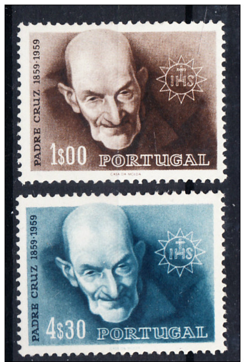 PORTUGAL 1960 .AFINSA Nº 861/862.CENTENARIO DO PADRE CRUZ    .NUEVO CON  CHARNELA .SES230GRANDE - 1910-... República
