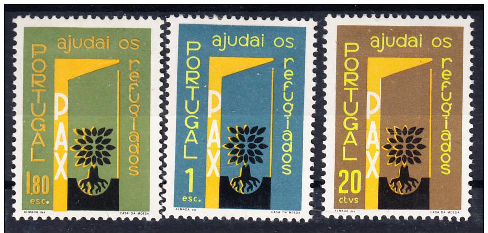 PORTUGAL 1960 .AFINSA Nº 851/853. Ano Mundial Dos Refugiados  .NUEVO CON  CHARNELA .SES230GRANDE - 1910-... República