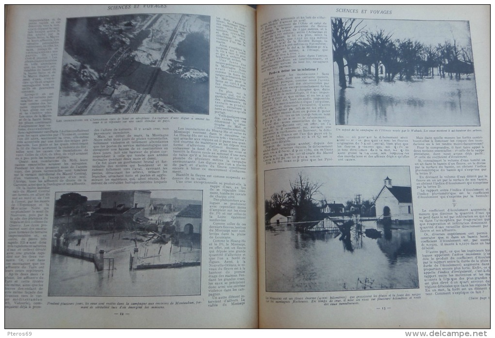 SCIENCES ET VOYAGES 1930 N°557:LE HERISSON/ILE SAO-THOME/GRANDES INNONDATIONS/TANNERIES/ - Journaux - Quotidiens