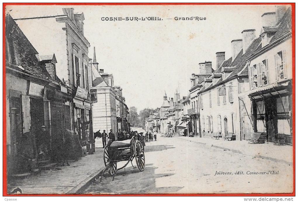 CPA 03 COSNE-sur-L'OEIL Allier - Grand'Rue (Charrette) ° Joliveau édit. - Other Municipalities