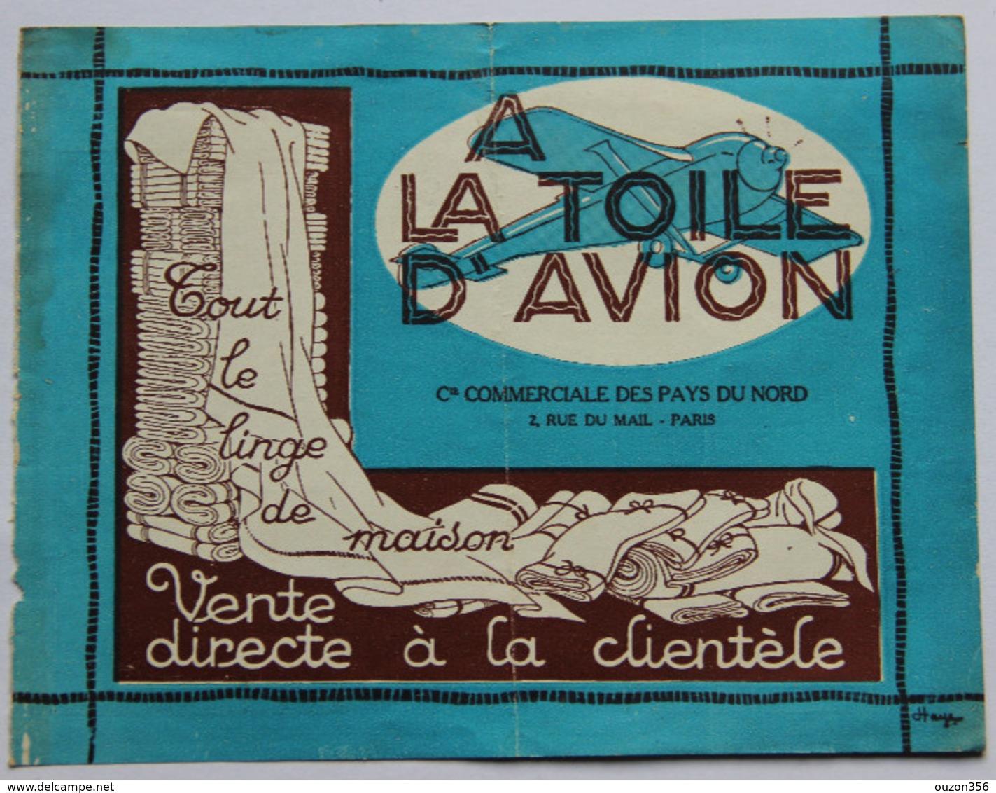 """Calendrier 1928 """"A La Toile D'Avion"""" à Paris, Linge De Maison - Calendriers"""