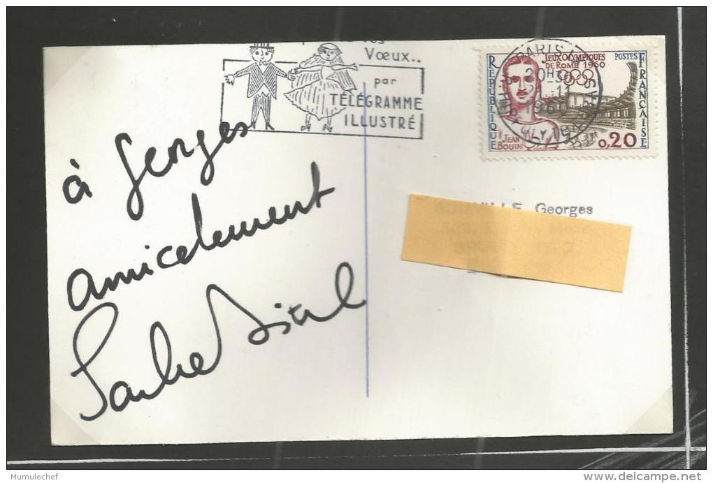 (A083) Autographe - Dédicace - Sacha Distel - Compositeur Chanteur - Autographes