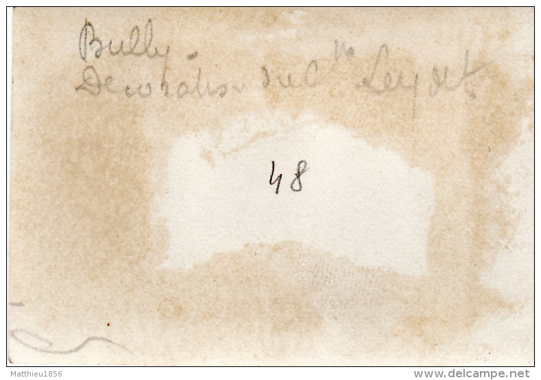Photo Octobre 1915 BULLY-LES-MINES - Décoration Du Capitaine Leydet (A128, Ww1, Wk 1) - France