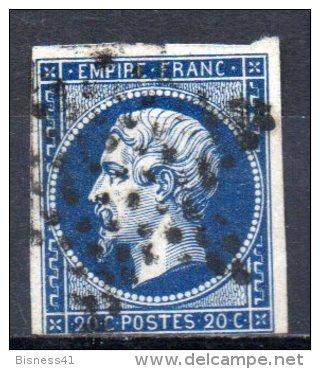 5/ France : N° 14 Oblitéré  , Cote : 2,00 € , Disperse Belle Collection ! - 1853-1860 Napoleon III
