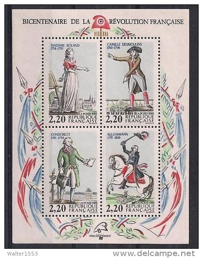 FRANCIA - FRANCE  ** MNH 1989 Foglietto BLOC FEUILLET N. 10 - Sheetlets