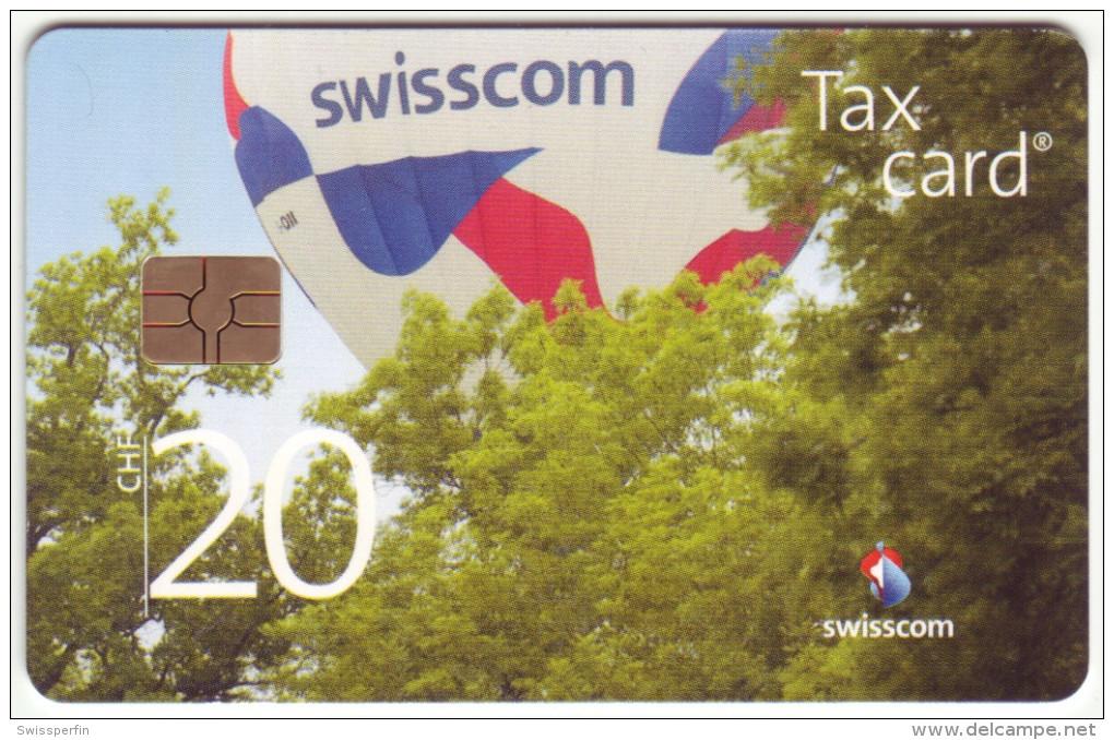 613 - CHF 20 Swisscom Heissluftballon - Schalterkarte Mit Kleinster Auflage - Schweiz