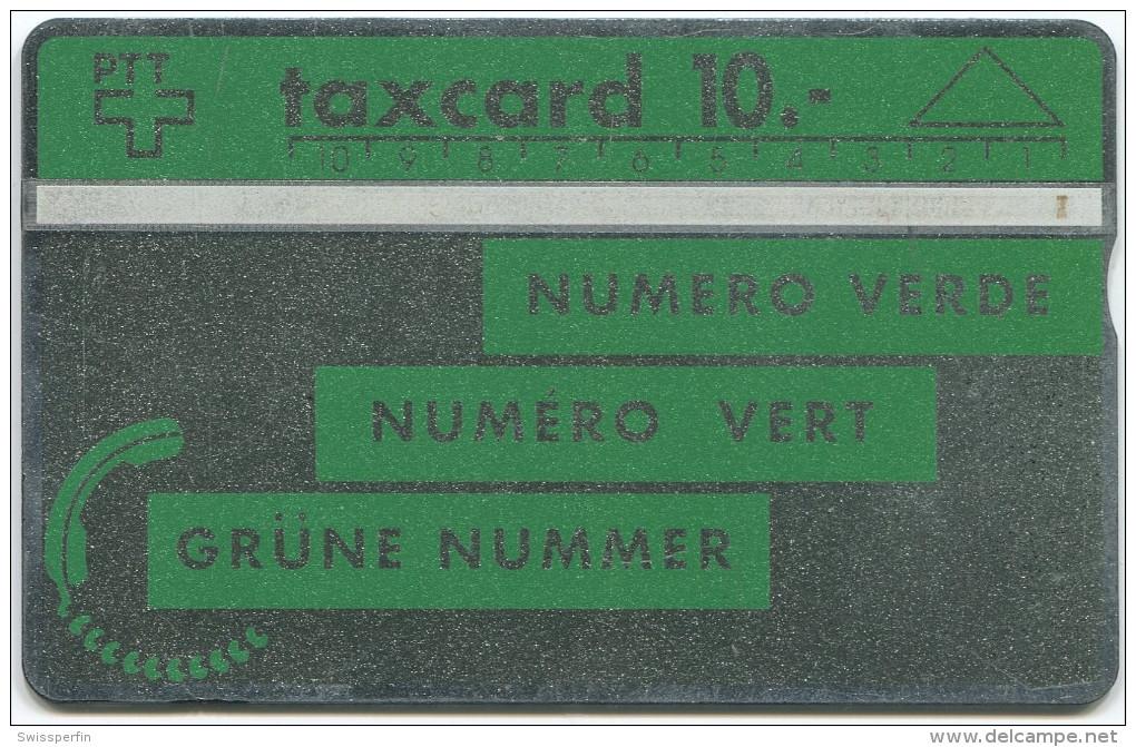 108 - Grüne Nummer - 005C Hellgrün RARITÄT Unter Den Schweizer Schalterkarten - Schweiz