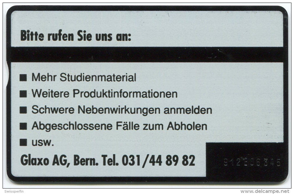 388 - Kundenkarte Glaxo ZINAT - Schweiz