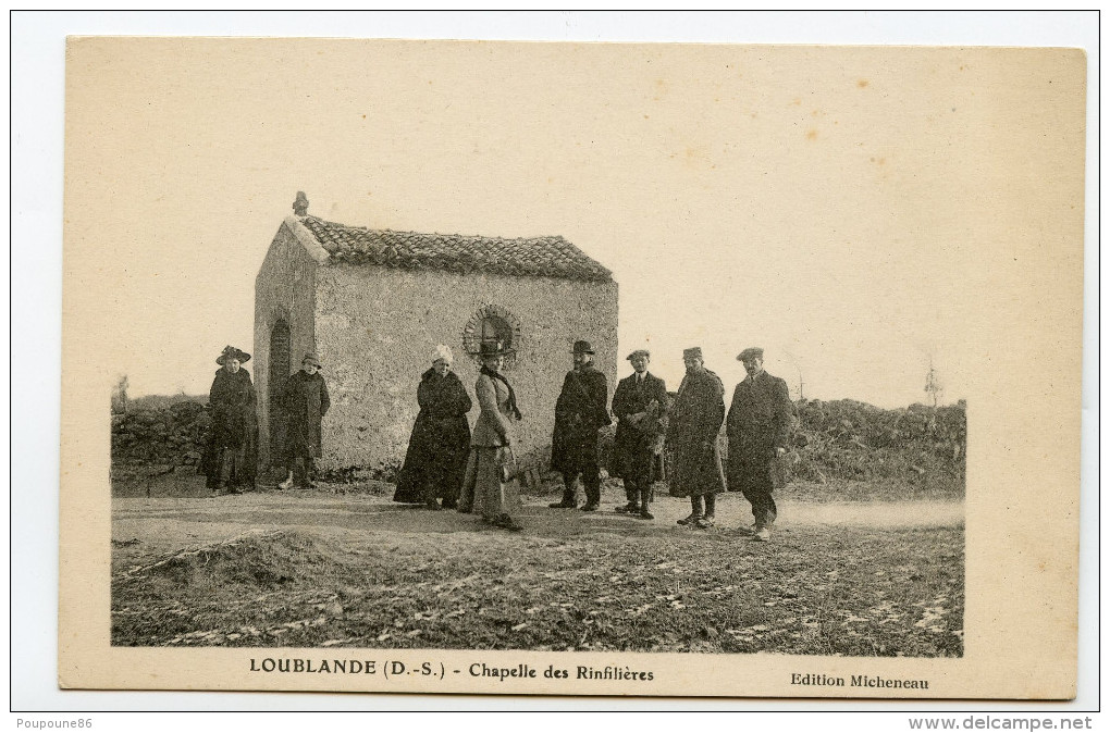 79 CPA LOUBLANDE - CHAPELLE DES RINFILIERES - BELLE ANIMATION - TOP CPA ++++++ - France