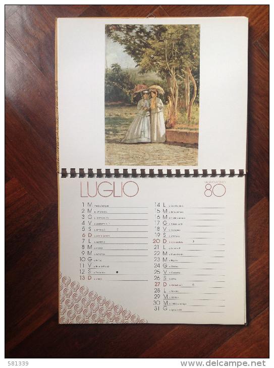 """1980 GRANDE CALENDARIO """"  Silvestro LEGA """" Della Cassa Di Risparmio Di Bologna - Calendars"""