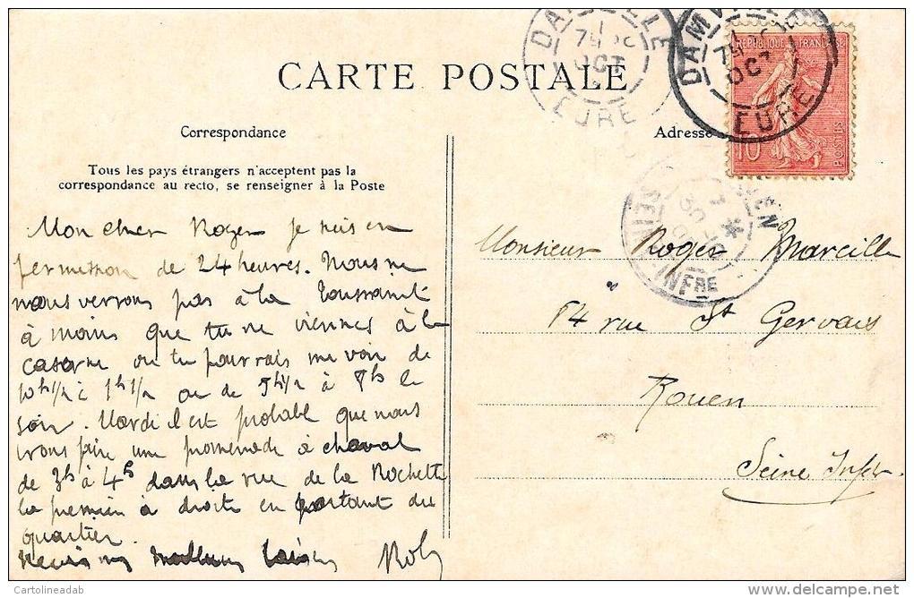 [DC2470] CARTOLINA - CPA - LES GRANDES MANOEUVRES DU NORD OVEST - PENDANT L'ACTION - Viaggiata - Old Postcard - Manovre